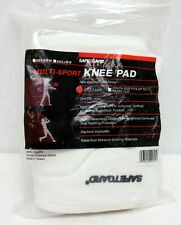Safe-T-Guard Multi Sports Work Knee Pads White Adult Moisture Wicking Washable