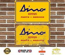 Ferrari Dino Metal Sign Wall Plaque Garage Sign Vintage Retro Man Cave