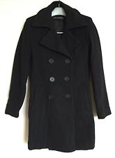 Marc New York Womens Winter Pea Coat Jacket Wool Cashmere Blend Black 2