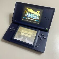 Consola Nintendo DS Lite Enamel Navy Blue Azul + Charger + Functional (yellowed)