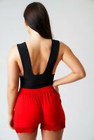 Black Beach Lace Shorts Party Lace Hem Short Shorts Party Club Soft Shorts 6-20