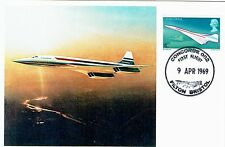FDC-SPERSONIC CONCORDE-002-FIRST FLIGHT-FILTON BRISTOL-ANGLO-FRENCH-9 APRIL 1969