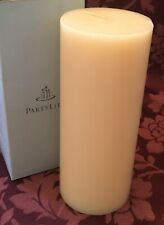 PartyLite Creme Caramel 3 x 7 Flat Top Pillar Candle C37414 New Carmel Retired
