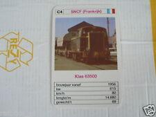 24 EK LOKS C4 SNCF FRANCE KLAS 63500 TRAIN TREIN KWARTET KAART,