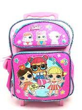 "L.O.L Surprise! Small School Rolling Backpack 12"" Girls Bag Pink Go Licensed"