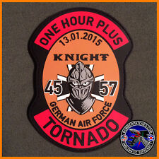 "GR1 Tornado German Air Force ""One Hour Plus"" Incentive Flight Patch 45 57 PVC"