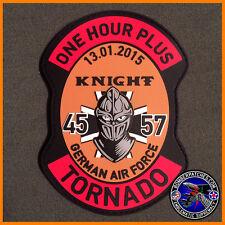 """GR1 Tornado German Air Force """"One Hour Plus"""" Incentive Flight Patch 45 57 PVC"""