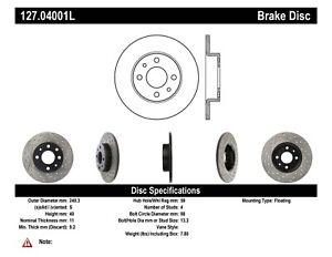 StopTech For 96-17 Panda &500/ Ram 700/146 Front&Rear Left Disc Brake 127.04001L
