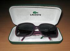 Lacoste Presciption Sunglasses Purple Frames & Original Case