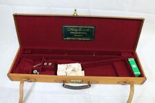 Vtg Westley Richards Gun Case Leather Trim Cleaning Rod Oil Bottle Snap Caps 28g