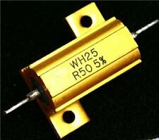 1 x ALLUMINIO Welwyn alloggiato Assiale Filo Avvolto RESISTORE WS25-R50 JI 0.5Ω ± 5% 25 W