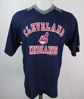 Cleveland Indians Men's Navy S-XL Performance Jersey T-Shirt MLB True Fan