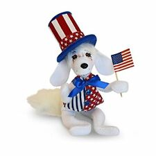 "Patriotic Pup 6"" Forth of July Dog Lover Decor Soft 3D Card Annalee"