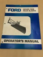 Ford Series 785B Rear Blades Operator's Manual Blade Grader 3 Point