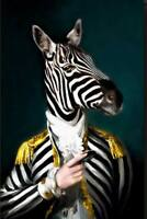 CHOP1296 fine handmade painted animal zebra portrait oil painting art on canvas