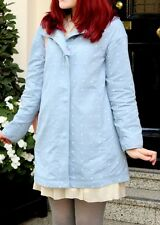 JOULES WOMENS 'SOUTHCOTE' RAINCOAT IN CHAMBRAY BLUE SPOT *UK 6* BNWT *RRP £129*