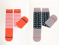 Horseware Kids Long Technical Riding Socks Sorbet Stripe & Horse Print 2 Pack