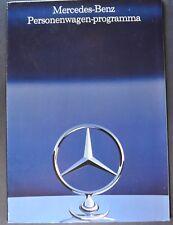1986 Mercedes-Benz Brochure 190 D E 230 250 300 420 500 SL 560 SEC Dutch Text