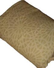 Target Home Beige & Khaki Geometric Patterned King Duvet Cover Linen Blend