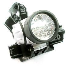 19 LED Lampada Testa Torcia/luce 4 impostazioni per il campeggio/pesca nuovi TO177