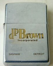 ZIPPO 1976-77 D P BROWN INCORPORATED SAGINAW DETROIT