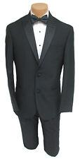 Boys Size 12 Black Ralph Lauren Tuxedo Jacket 2 Button Satin Peak Lapel Wedding