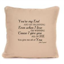 John Legend All Of Me Song Lyrics Cushion With Pad Included