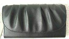 Kenneth Cole Reaction Black Wallet Organizer Clutch Faux Leather New