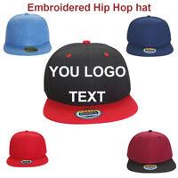 Personalised Embroidered Hip-Hop Snapback Flat Hat Visor Cap Custom Hat Dad Hat