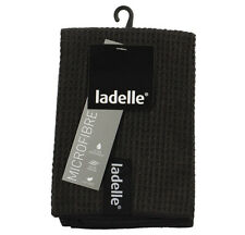 Ladelle Microfibre Dish Cloths pack of 3 Black. Super Absorbent Quick Drying