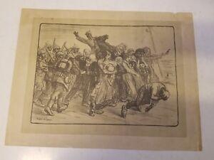Antique Scene of Prisoners By Theophile Alexander Steinlen Print
