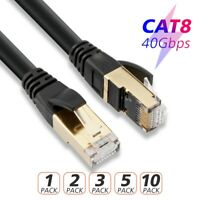 USA LOT 6 Feet CAT 8 Ethernet Cable SSTP LAN Cord for Router Modem Gaming Xbox