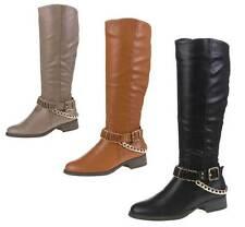 Markenlose wadenhohe Stiefel aus Synthetik mit mittlerem Absatz (3-5 cm)
