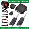 12V Car Security Alarm System Universal Central Door Lock Shock Sensor & Siren