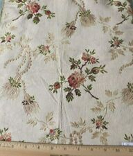 """Antique c1900 French Rose Floral Silk Brocade Fabric~L-16"""" X W-13"""""""