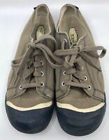KEEN Brown Navy Coronado Retro Lace Canvas Sneakers Shoes Men's Sz 6 EU 39