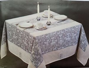 """Egyptian Style in White Ecru Lace Tablecloth 59""""x59"""" Square bedside coffee table"""