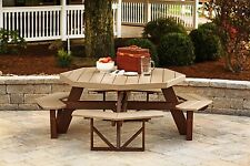 Maintenance Free Weather Resistant Poly Outdoor Octagon 8 seater Picnic Table