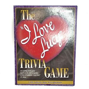 Vintage 1998 I Love Lucy Trivia Board Game 1000 Questions Lucille Ball Complete