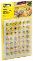 Noch HO 07026-Grasbüschel Mini Set 12 mm, gelb blühend veredelt 42 Stück, natür.