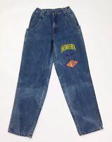 Unhintered jeans donna w26 tg 40 vintage blu denim usato boyfriend slim T2861