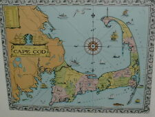 1932 CAPE COD MAP by Walter M Gaffney--VINTAGE