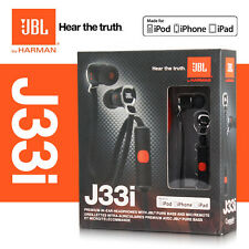 jBL J33i In Ear Headphones with Remote & Mic for iPad iPod iPhone 5 4S - BLACK