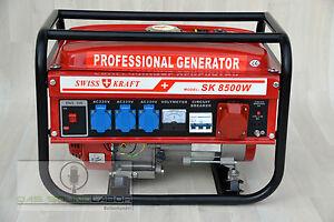 Notstromerzeuger Stromerzeuger Generator Stromgenerator Aggregat 8500W *E-Start*