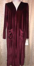 Lularoe Sarah Cardigan Maroon Reddish Wine Burgundy Velvet Velour Medium🦄🦄