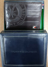 TOMMY HILFIGER MEN'S LEATHER EMBOSSED VALET WALLET WITH FREE GIFT BOX