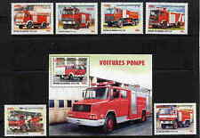 CAMBODIA 2000 FIRE FIGHTING - FIRE ENGINES MINT COMPLETE SET AND SOUVENIR SHEET!