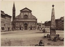 Florence Firenze Santa Maria Novella Italie Italia Vintage albumen ca 1880