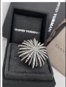 David Yurman Large Pavè Starburst Ring Size 7