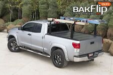 BAK Truck Bed Cover - BAKFlip CS-F1 Hard Folding Tonneau Cover w Integrated Rack